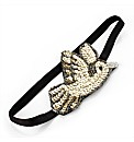 Silver Sequin Bird Stretch Headwrap