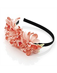 Peach Tone Flower Headband