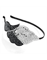 Silver Coloured Sequin Motif Headband