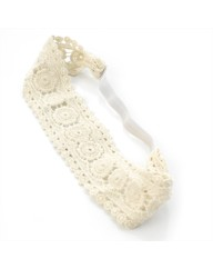 Ivory Coloured Lace Stretch Headwrap