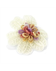 Ivory Coloured Wool Look Flower Clip