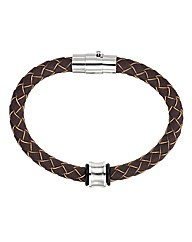 Brown Concave Bead Bracelet