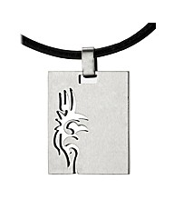 Stainless Steel Gents Tribal Dog Tag