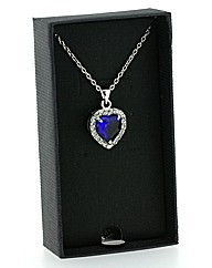 Blue Stone and Crystal Pendant