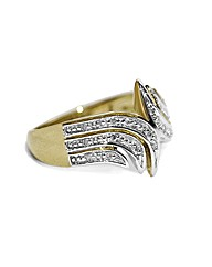 9CT Ladies Yellow Gold Diamond Ring