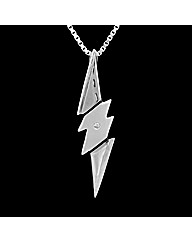 Silver Matt/Polished Lightening Pendant