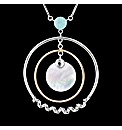 Silver Mother of Pearl Disc Pendant