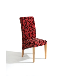 Abbey Fabric Chair - Red