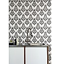 Contour Pallade Black/White Wallpaper