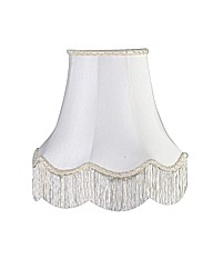 Faux Silk Ivory Lamp Shade - 30cm