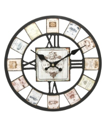 Cut out Effect Wall Clock Wine Label 30c