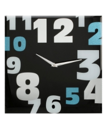 Glass Wall Clock with Random Arabic Numb