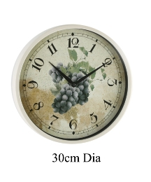 Wall Clock Cream Case 12