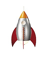 Childrens Rocket Ceiling Pendant