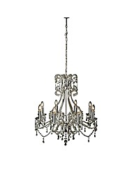 Vic Chrome 8 Light Chandelier