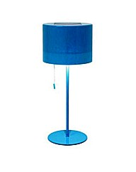 Blue Outdoor Solar Table Lamp