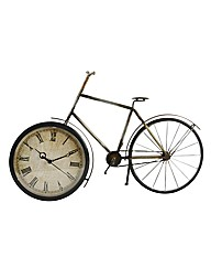 Living Metal Wall Art - Bicycle clock