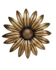 Home Living Metal Wall Gold Flower