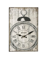 Tin Wall Clock - Bell Alarm Pattern