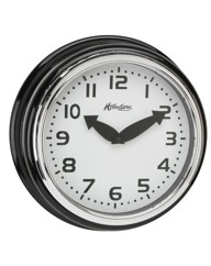 Wall Clock Black Case Arabic Dial 30cm