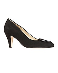 Hapton Black Suede Court Shoe