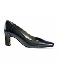Runway Black Leather Court Shoe
