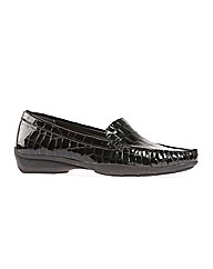 Roxburgh Black Patent Croc Loafer