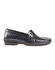 Roxburgh - Navy Patent Croc