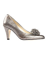 Holt Pewter Feature Court Shoe
