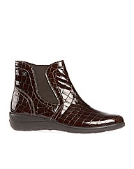 Whitby Brown Croc Boot