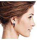 Jon Richard Purple Oval Stone Earring