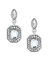 Jon Richard Square Stone Drop Earring