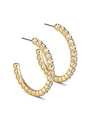 Jon Richard Crystal Encased Hoop Earring