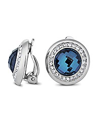 Jon Richard Blue Clip On Earring