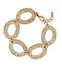 Jon Richard Diamante Gold Oval Bracelet