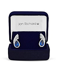 Jon Richard Blue Swirl Stud Earring