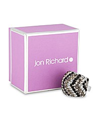 Jon Richard Jet Crystal Stripe Ring