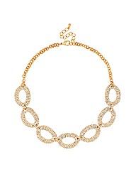 Jon Richard Diamante Gold Oval Necklace