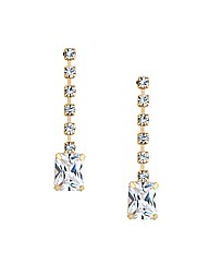 Jon Richard Diamante Square Drop Earring