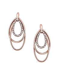 Jon Richard Teardrop Triple Hoop Earring