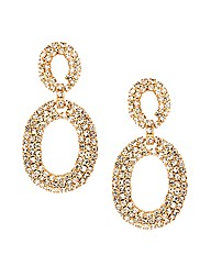 Jon Richard Diamante Oval Drop Earring
