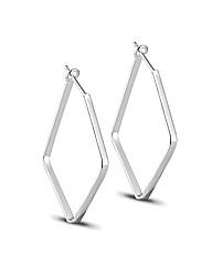 Simply Silver Angular Hoop Earring