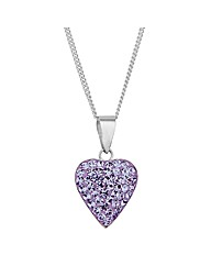 Simply Silver Purple Heart Necklace