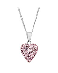 Simply Silver Pink Heart Necklace