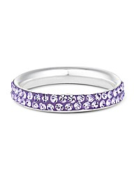 Simply Silver Purple Crystal Band Ring