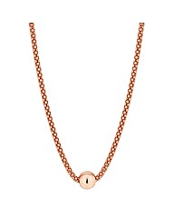 Simply Silver Rose Gold Ball Necklace