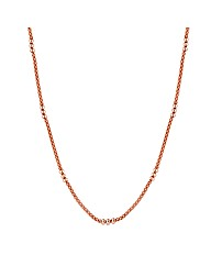 Simply Silver Rose Gold Mesh Necklace