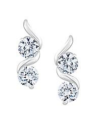 Simply Silver Swirl Drop Earring