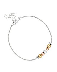 Simply Silver Triple Tone Ball Bracelet
