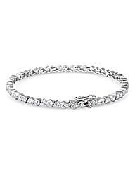 Simply Silver Tennis Style Bracelet